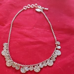 Lois Hill sterling disc necklace